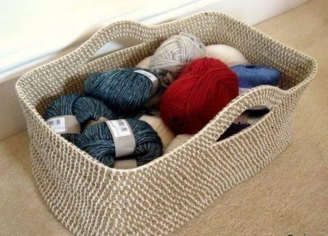 Милая плетеная корзинка своими руками