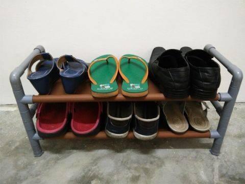 Дешевая полка для обуви своими руками