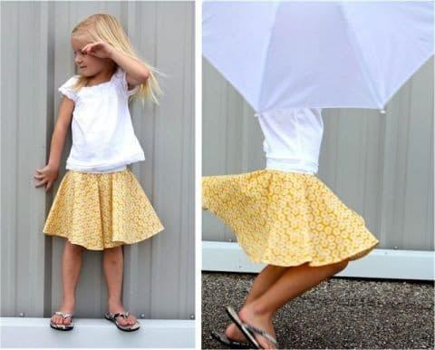 Летняя и очень легкая юбка для девочки своими руками