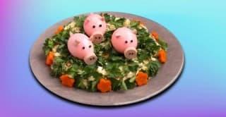 Красивый и легкий салат