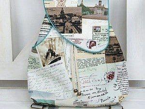 Идея как сшить рюкзак для прогулок