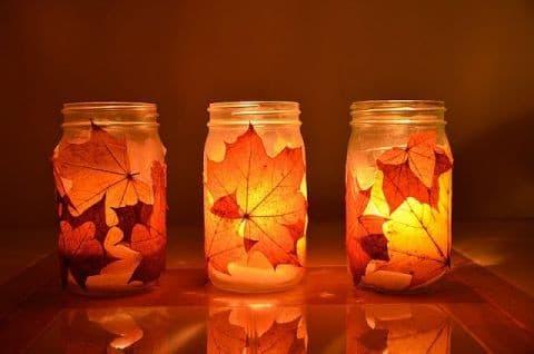 Осеннее творчество: как сделать подсвечник своими руками