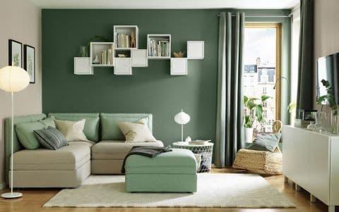 Стильный интерьер в зеленых цветах
