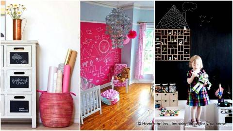 Стена для рисования в детской комнате. 20 примеров дизайна.