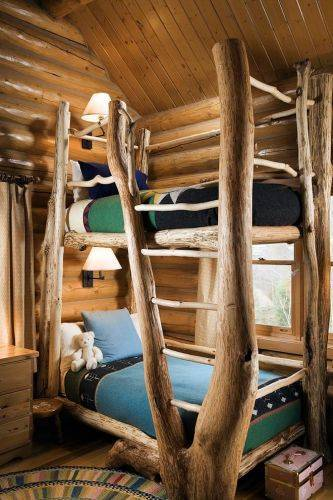 b2ap3_thumbnail_Lovely-Kids-House-Beds-Ideas-in-Kids-Traditional-design-ideas-with-bed-bunk-bed-log-log-accent-log.jpg