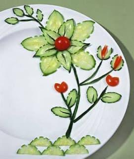 Нарезаем овощи красиво. Пару простых приемов.