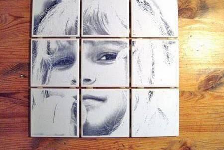 Рисунок на плитке может быть даже таким...