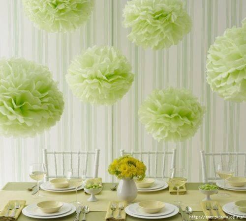 Своими руками украсить стол цветами