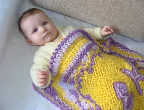 Конверт для новорожденного:теплый и красивый