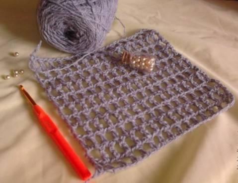 Вязание крючком объемного пледа 16
