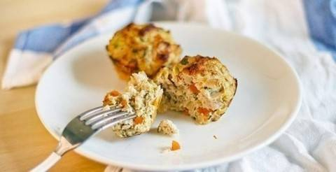 Оригинальные мясо-овощные маффины на ужин