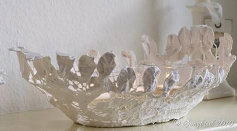 Винтажная кружевная ваза своими руками