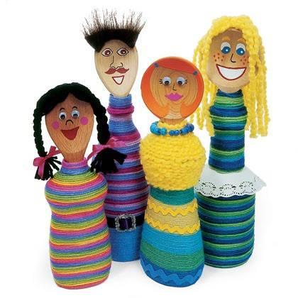 Делаем нарядных кукол из пластиковых бутылок