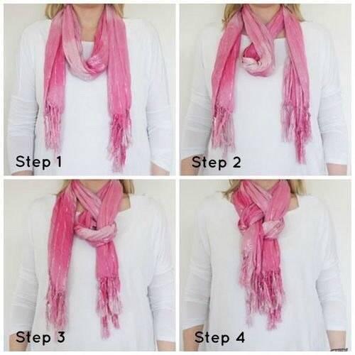 Как красиво завязать шарф. Еще один способ.