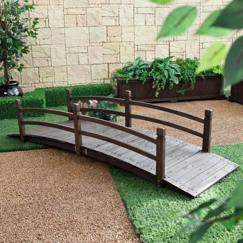 Садовый мостик станет украшением вашего участка