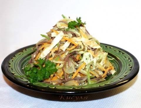Очень вкусный салат с редькой