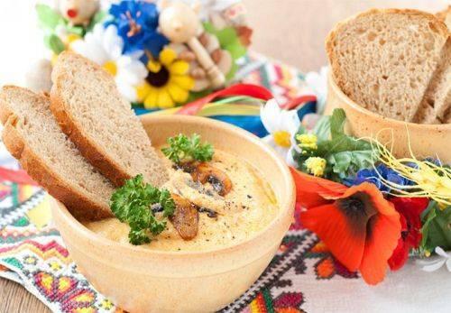 Грибная мачанка - очень вкусное закарпатское блюдо