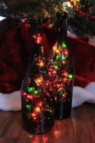 Оригинальный светильник к Новому году своими руками
