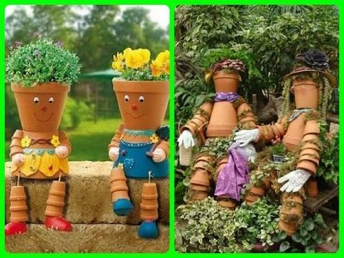 Удивительные поделки в саду, сделанные своим руками