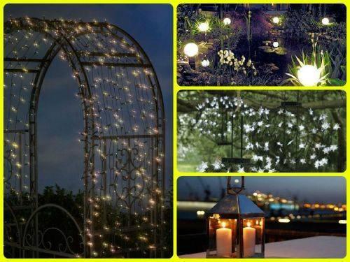 Необыкновенно и просто, светильники в саду.