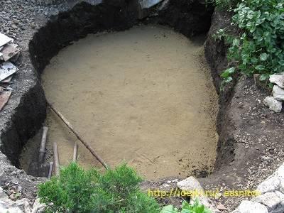 Пруд своими руками бетонный