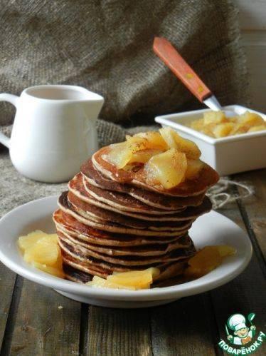 Простой рецепт американских блинчиков панкейков с вкусным гарниром