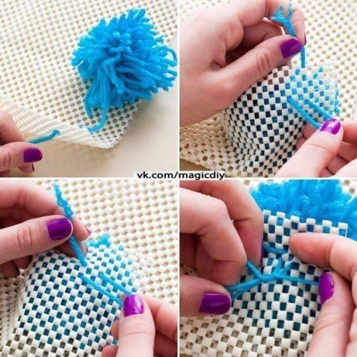 Как своими рукам сделать коврик из пряжи