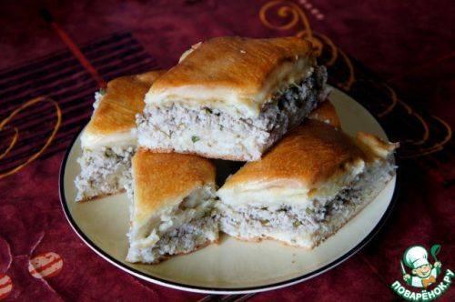 Очень простой рецепт мясного пирога