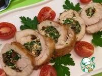 Рулет из грудки курицы с сыром фетой