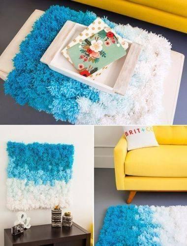 Как из помпонов сделать коврик