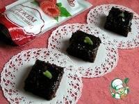 Шоколадный пирог Брауни с малиновым джемом