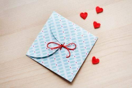 Креативный конвертик из бумаги своими руками за пять минут