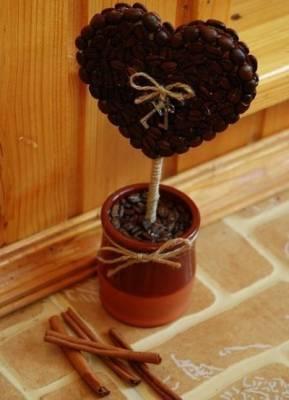 Как сделать дерево из кофейных зерен своими руками