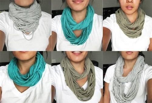 Модный шарф своими руками из футболки