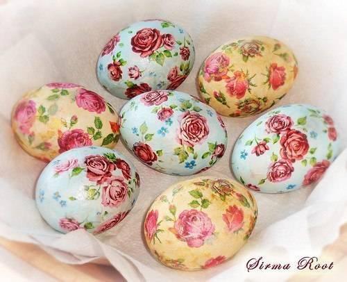 Волшебный декупаж яиц к Пасхе