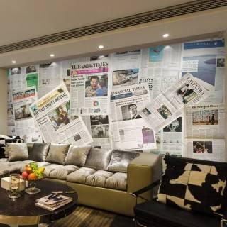 Газетный стиль в интерьере