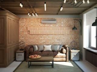Маленькая квартира студия. Дизайн интерьера. Фото готового проекта.