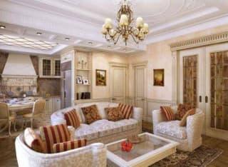 Люстры в интерьере гостиной – яркий акцент в дизайне