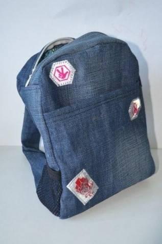 Как сшить из старых джинс рюкзак для ребенка