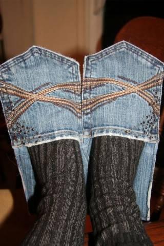 Тапочки из джинсов своими руками