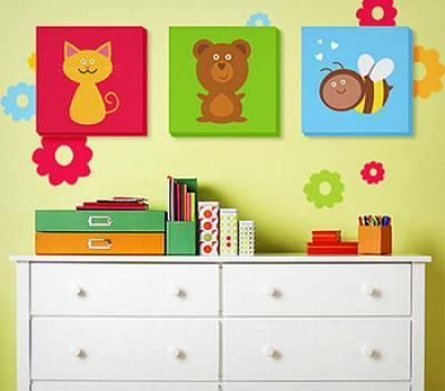 Как украсить стены в детской. Самые простые и оригинальные идеи.