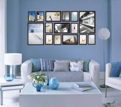 Как развесить фотографии на стене.