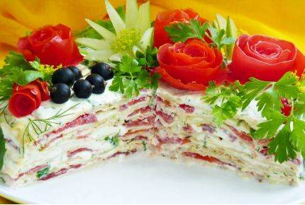 Тортик из кабачка - вкусно и красиво