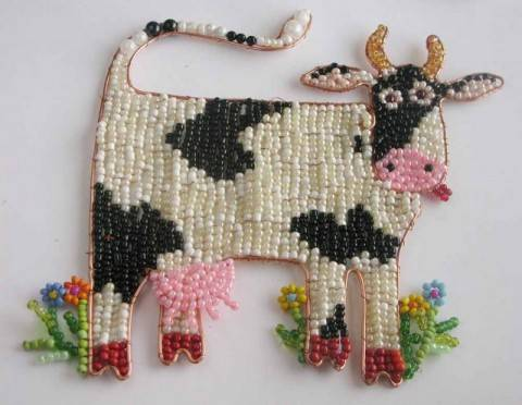 Бисерные коровки и не только своими руками