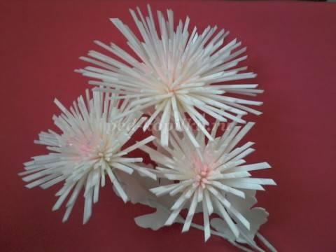 Хризантемы из изолона сможет сделать даже ребенок
