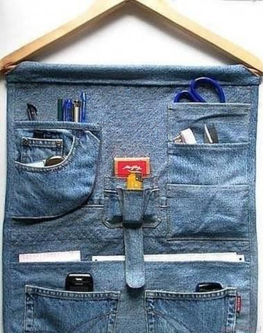 Органайзер из карманов джинс своими руками
