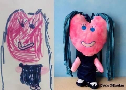 Ожившие рисунки: игрушки по детским эскизам