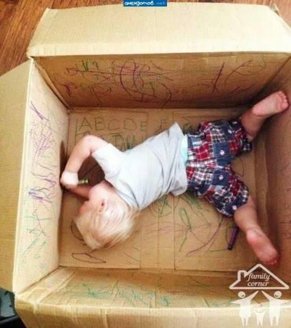 Что можно сделать из картонных коробок для детей