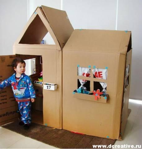 Что можно сделать для детей из коробок
