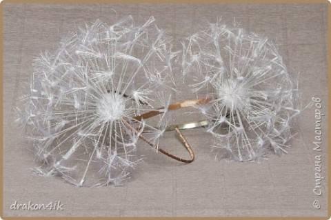 Пушистый одуванчик – брошь, заколка, аксессуар для невесты и так далее